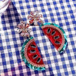 Watermelon Summer Drop Earrings